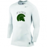 Baseball-White Long Sleeve Compression Shirt