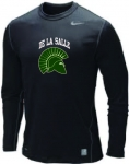 Baseball-Black Long Sleeve Compression Shirt