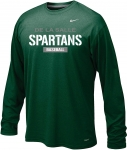 *Baseball Green Long Sleeve Dri-Fit Tshirt-Special Order