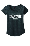 *Baseball Women's Dark Heather Scoop-Neck Tshirt-Special Order