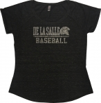 *Baseball Women's Silver Bling Dark Heather Tshirt-Limited Quantities