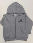 Toddler Full-Zip Hooded Sweatshirt - Grey