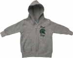 Infant Full-Zip Hooded Sweatshirt - Grey