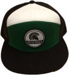 Mesh Snapback Cap - Black/Green/White