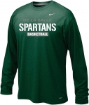*Basketball Nike Green Long Sleeve Dri-Fit T-Shirt**Special Order**(Order by Nov 16th)