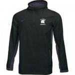 *Basketball Black Quarter Zip Hooded Windbreaker**Special Order**(Order by Nov 16th)