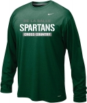Cross Country - Nike Green Long Sleeve Dri-Fit T-Shirt**Special Order**