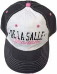 Women's Baseball Cap - Charcoal Grey/White/Pink