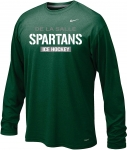 *Ice Hockey Green Long Sleeve Dri-Fit T-Shirt**Special Order**(Order by Nov 16th)
