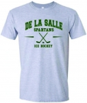 Ice Hockey Grey Short Sleeve T-Shirt