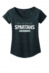 *Ice Hockey Women's Charcoal Grey Scoop-Neck T-Shirt**Special Order**(Order by Nov 16th)