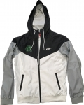 **Nike Full Zip Windrunner Jacket - White/Black/Grey