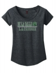 *Lacrosse Women's Charcoal Grey Scoop Neck T-Shirt  *** Special Order Only ***(Order by Feb 27th)