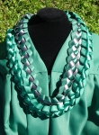 Graduation Lei - Green/Grey
