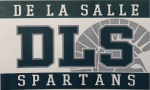 *De La Salle Flag - Green/Silver/White