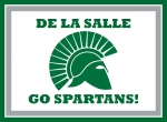 De La Salle Go Spartans! Yard Sign