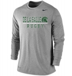 Rugby Charcoal Grey Long Sleeve Dri-Fit T-Shirt