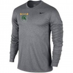 **Soccer Nike Grey Long Sleeve Dri-Fit T-Shirt with STARS**Special Order**(Order by Nov 16th)