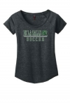 Soccer Women's Charcoal Grey Scoop Neck T-Shirt***Special Order Only***(Order by Nov 28th)