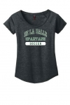 *Soccer Women's Charcoal Grey Scoop Neck T-Shirt***Special Order***