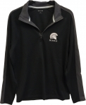 *Men's Quarter Zip Pullover - Black/Grey