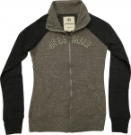 *Women's Full Zip Sweatshirt - Grey/Black