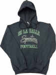 Football Hooded Sweatshirt - Charcoal Grey
