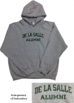 Alumni Embroidered Hoodie - Grey