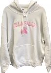Women's Hoodie - White with Pink Embroidery