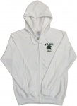 Mom Full Zip Hoodie - White