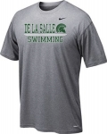 *Swimming Charcoal Grey Short Sleeve Dri-Fit T-Shirt***Special Order Only***(Order by Feb 20th)
