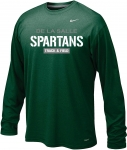 *Track & Field Green Dri-Fit Long Sleeve Tshirt - Special Order Only