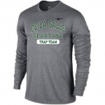 Trap Team Grey Long Sleeve Dri-Fit T-Shirt**Special Order**