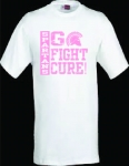 *Men's Breast Cancer Awareness T-Shirt - White