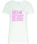 *Women's Breast Cancer Awareness Scoop-Neck T-Shirt - White