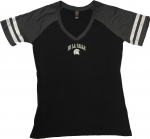 **Women's V-Neck T-Shirt - Black/Grey/White