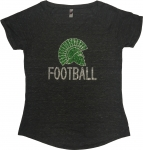 *Women's Football Bling T-Shirt - Grey