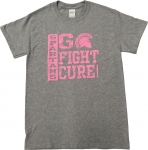 **Men's Breast Cancer Awareness T-Shirt - Grey