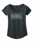 *Volleyball Women's Charcoal Grey Scoop-Neck T-Shirt***Special Order Only***(Order by Feb 27th)