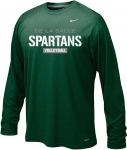 *Volleyball Green Long Sleeve Dri-Fit Tshirt - Special Order Only