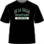 Water Polo - Black COTTON T-Shirt**Special Order**