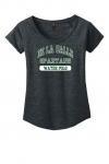 Water Polo - Women's Charcoal Grey Scoop-Neck T-Shirt**Special Order**